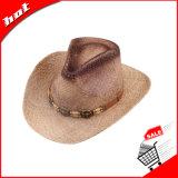 Sombrero unisex de la rafia de la paja del vaquero natural de Sun