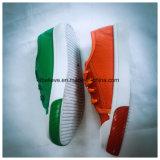 Kleurrijke Leather Shoe met Shoe Lace en pvc Sole