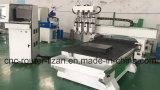 Máquina do Woodworking do CNC de 4 eixos