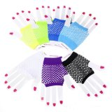 Перчатки панковского Multicolor ночного клуба потехи перчаток сетки сексуальные замыкают накоротко тип (GL002)