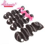 Cabelo natural de trama de Remy do cabelo malaio