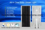 O projeto novo 70W integrou tudo em uma luz de rua solar ao ar livre do diodo emissor de luz