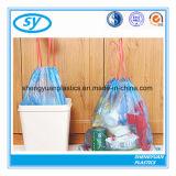 Kundenspezifische gedruckte weiße Betrag-Zeichenkette-biodegradierbare Plastiktasche