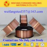 producto sólido de la soldadura del alambre de soldadura del carrete 15kg/D270 de 0.8m m con Er70s-6