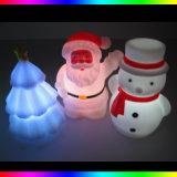 Uomo il Babbo Natale della neve dell'albero di Natale degli indicatori luminosi di natale del LED LED