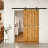 Ferragem deslizante de madeira preta da porta do sistema da aderência da ferragem da porta de celeiro