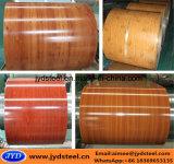 Il disegno di legno ha stampato la bobina d'acciaio ricoperta colore usata per infiammare