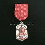 Medallas modificadas para requisitos particulares del metal con las cintas para el reconocimiento