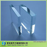 12m m Extra White Tempered Safety Glass para Building con Polished Edge