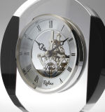 Horloge en cristal de cadeau d'horloge en cristal de bureau