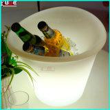 플라스틱에 의하여 조명되는 LED 냉각기 상자 콘테이너 아이스 박스 물통
