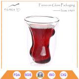 Taza hecha a mano del vidrio de consumición de la dimensión de una variable de la carrocería de las mujeres