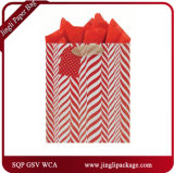 빨간 인쇄한 선물 쇼핑 백 광택 있는 박판은 서류상 쇼핑 선물 부대를 자루에 넣는다