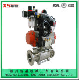 Sanitaire Hygiënische Explosiebestendige Pneumatische Actuator van het roestvrij staal Ss304 Vleugelkleppen