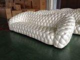 Sofa luxueux de cuir de salle de séjour de Corlor d'or (B6)