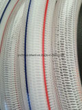 PVC Plastic Knitted Braided Fiber Transparent Reinforced Tube Pipe Hose für Water Garten Irrigation 1 ""
