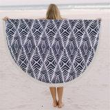 Tovagliolo 100% di spiaggia stampato rotondo del cotone del commercio all'ingrosso con superiore