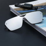 مسطّحة عدسة زاهية مرآة نظّارات شمس نساء رجال إشارة مصمّم ضمّن [سون غلسّ] (97062)
