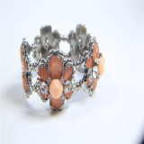 Colar ajustada do bracelete do brinco da jóia nova da forma da flor da resina do artigo