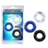 3PCS Lang-dauerhaftes Glans Ring Elastic Ring Prepuce Healer Penis Ring