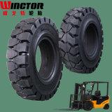Approvisionnement direct d'usine, pneu Shaped pneumatique de pneu plein de chariot élévateur (6.50-10)