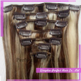 人間の毛髪の拡張Remyインドのクリップ