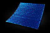 Sondert mit Seiten versehenes Aluminiumfolie-unterstütztes blaues PET beschichtetes Wärmeisolierung-Material aus