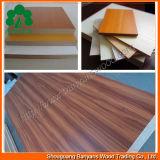 4X8 White Lamianted Melamine MDF Board, Black Wenge Melamine MDF Cabinets, High UV Gloosy Melamine MDF