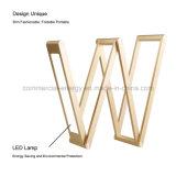 Artigos de papelaria Foldable recarregáveis do escritório da lâmpada de mesa do diodo emissor de luz