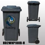 balde do lixo de borracha plástico da roda do escaninho de lixo 100L para HD2wnp100b-H ao ar livre