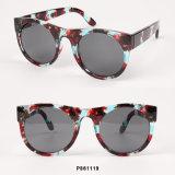 Óculos de sol redondos da forma nova das mulheres com transferência de papel
