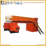 Piccola macchina per fabbricare i mattoni vuota solida mobile dell'argilla