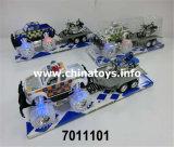 Heißer Verkaufs-Plastik spielt Friktions-Auto-Fahrzeug-Spielzeug mit Licht und Musik (7011106)