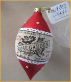 De hand Geblazen Rode Ambachten van het Glas van Kerstmis voor de Decoratie van Kerstmis