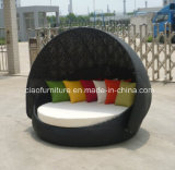 Rattan de alumínio Sunbed da mobília do pátio