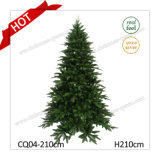 Lake Shore Árvore verde azul 7FT PE + PVC Artificial Árvore de Natal com bom preço