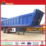 반 45cbm 트레일러 3 차축 화물 덤프 팁 주는 사람 트럭