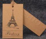 Hangtag de papel impreso insignia de encargo para la ropa