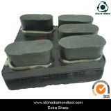 Un diamante dei 5 puntini Resina-Salda il blocchetto macinante di marmo del granito di Francoforte