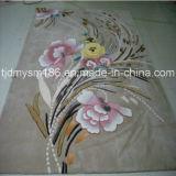 Le manuel brodent le tapis de laines de conception