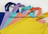 Sac à provisions personnalisé promotionnel de coton de logo, sac d'emballage de la toile 10A (Fly-CB0083)