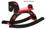 Cavalo-Black novo Horse Rocker de Design Baby Wooden Rocking com Red DOT