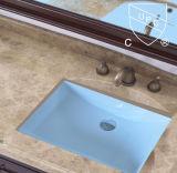 Cupc Certificate Évier de salle de bain en céramique rectangulaire en sous-sol (SN017)