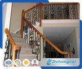 Barramento de escada exterior de ferro forjado decorativo