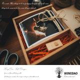 Hongdao kundenspezifisches hölzernes Foto und USB-Ablagekasten für Fotographie Wholesale_L