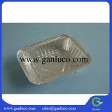 使い捨て可能な長方形のアルミホイルの容器