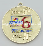 リボンが付いている昇進の金属メダル