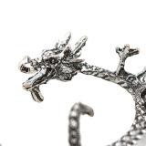De uitstekende Zilveren Geplateerde Klem van het Metaal van de Juwelen van de Manier van de Oorringen van het Manchet van het Oor van de Draak van de Rots Punk op Oorringen Geen Doordrongen Oorringen voor Vrouwen