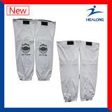 Chaussettes de hockey sur glace des pleins hommes de sublimation de vêtements de sport de Healong