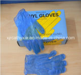 Clean azul Powdered/Powder Free Disposable Vinyl Gloves (ISO, CE certificado)